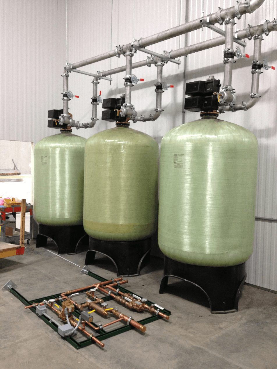 two commercial water softeners