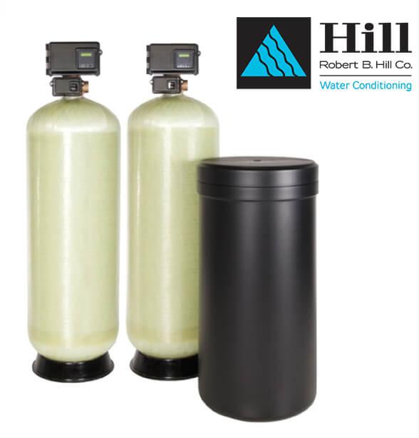 dual fiberglass commercial water softener