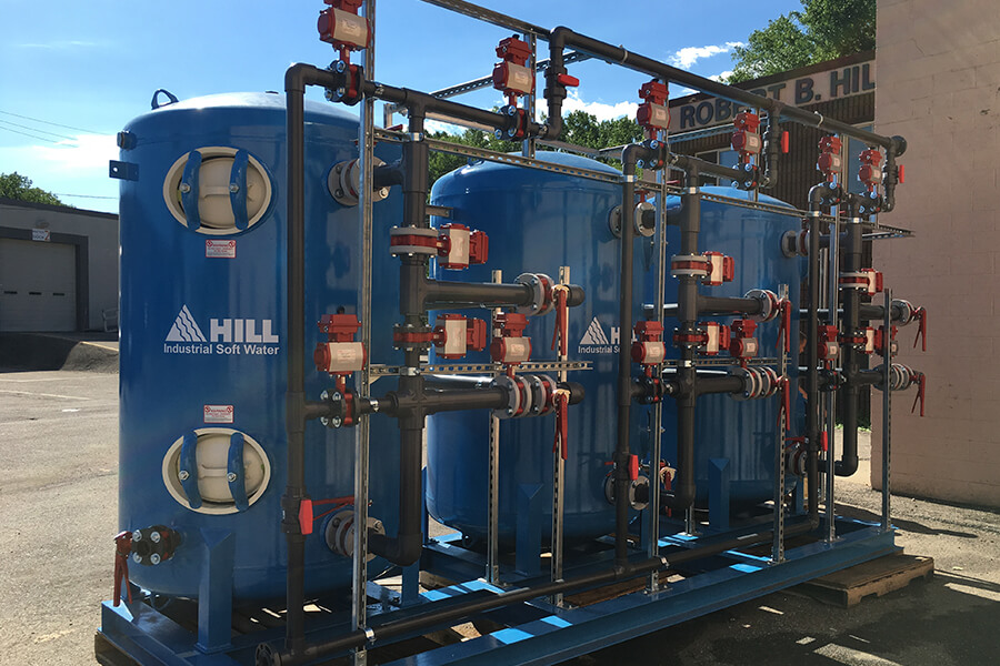 industrial water softening