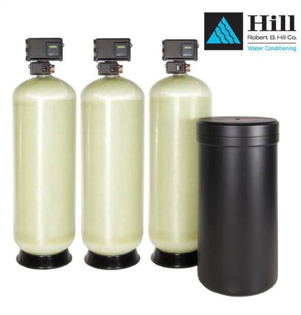 triple fiberglass commercial water softener